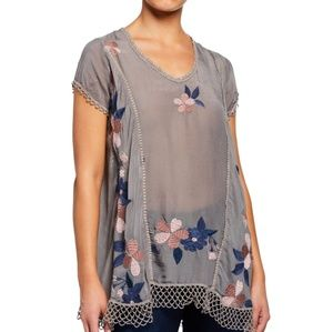 Nwt Johnny Was embroidered blouse S medium welcome
